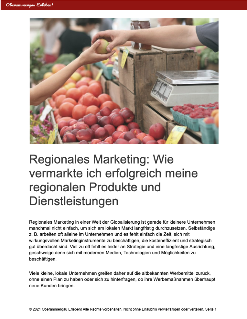 Oberammergau erleben - Partner Marketing